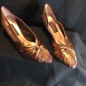 VintageSesto Meucci  gold color 7.5 women's shoes
